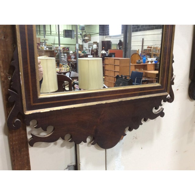 Hepplewhite Hepplewhite Style Looking Glass Mirror With Inlay For Sale - Image 3 of 6