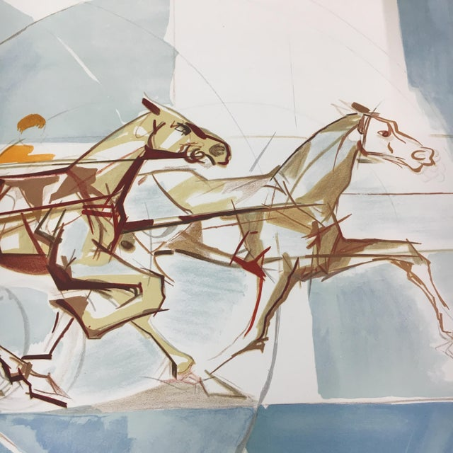 """1960s 1960s Vintage """"The Race"""" French Cubist Lithograph by Jacques Ceria Despierre For Sale - Image 5 of 8"""