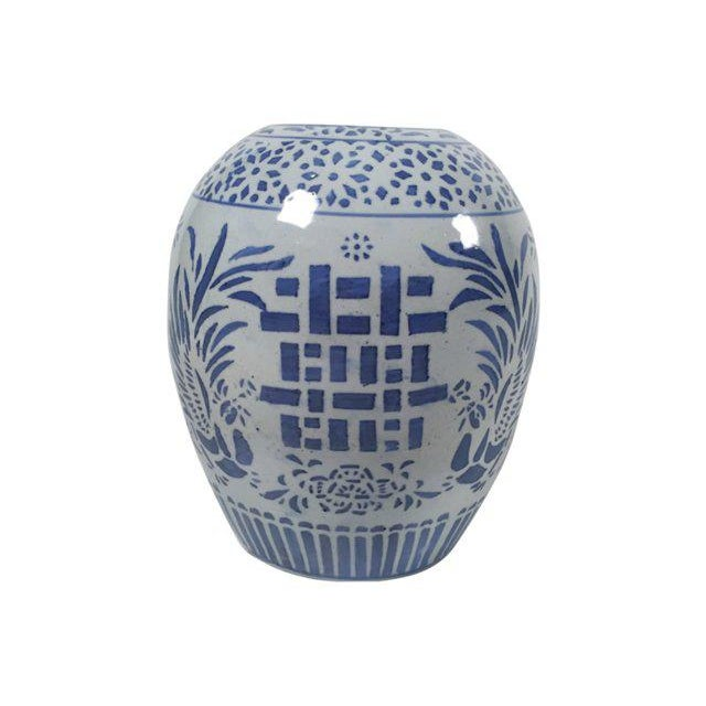 Blue & White Ginger Jar For Sale - Image 4 of 5