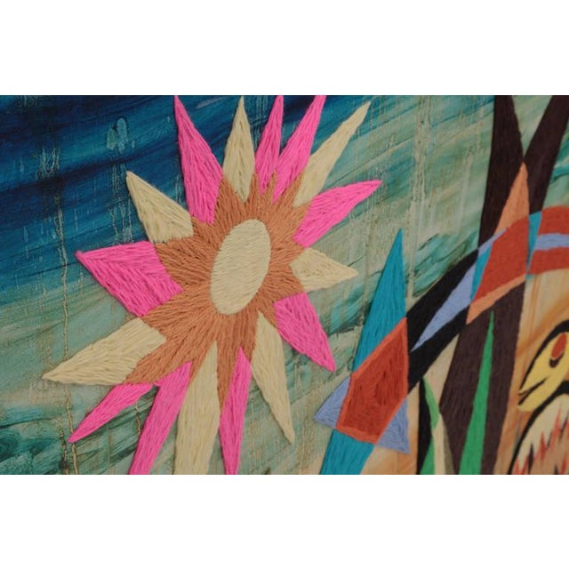 Mid-Century Modern Large-Scale Harold Laynor Mixed-Media Art For Sale - Image 3 of 5