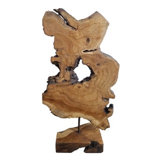 Overscale Natural Wood Slice Sculpture For Sale