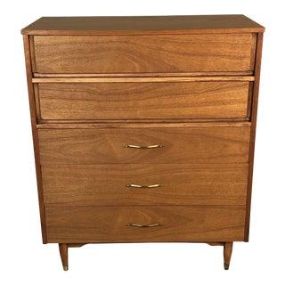1960s Walnut Wood Dresser by Mainline for Hooker Furniture For Sale