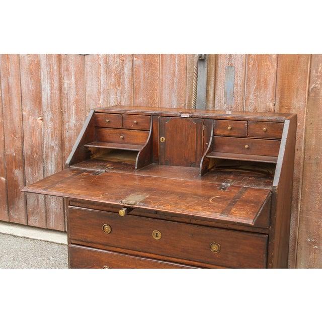 Oak 18th Century Swedish Secretary Desk For Sale - Image 7 of 11