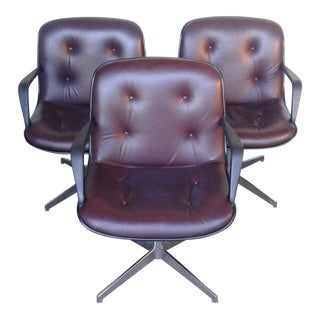 Steelcase Pollock Style Armchairs - Set of 3