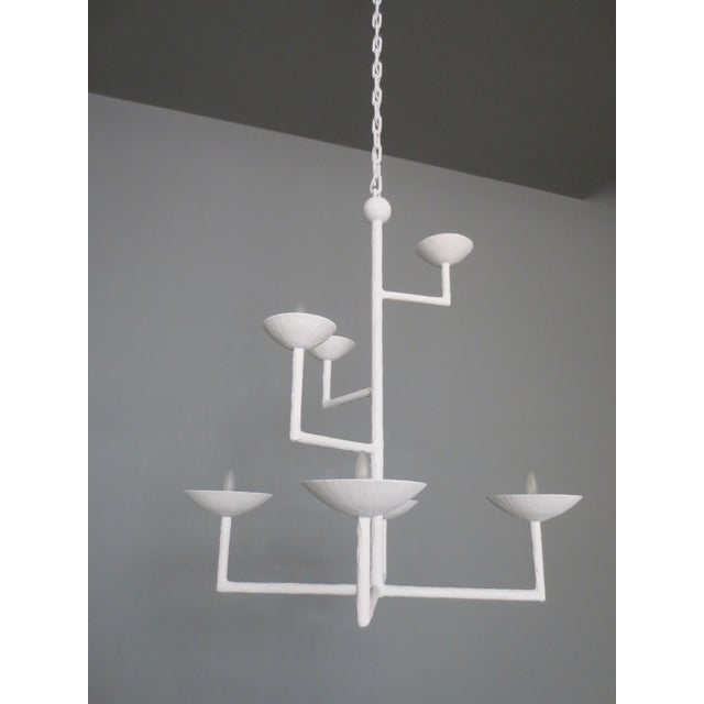 Not Yet Made - Made To Order 7 Cup Plaster Chandelier With Chain For Sale - Image 5 of 8