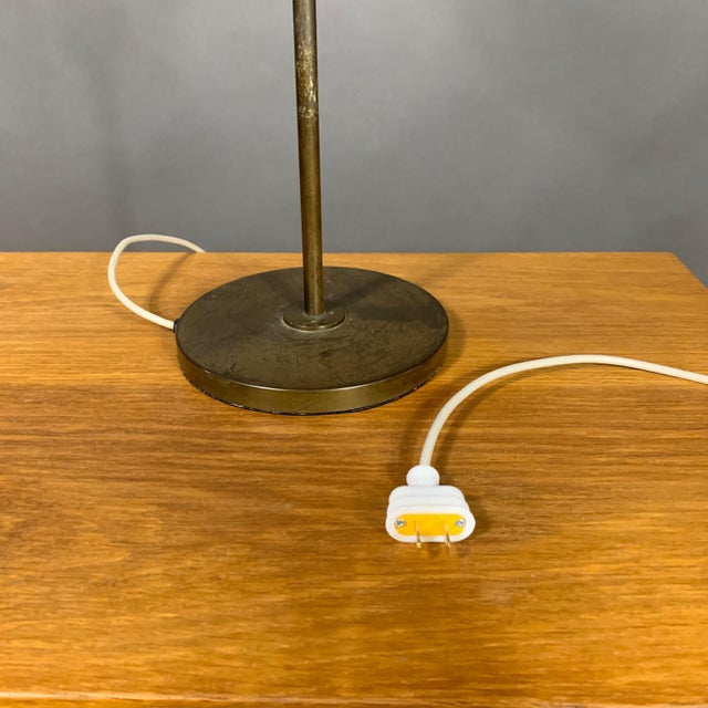 1930s Lyfa of Denmark Table Lamp, Glass, Brass & Lacquered Metal For Sale - Image 9 of 10