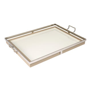 Howard Tray Large in Beige - Steven Gambrel for The Lacquer Company For Sale
