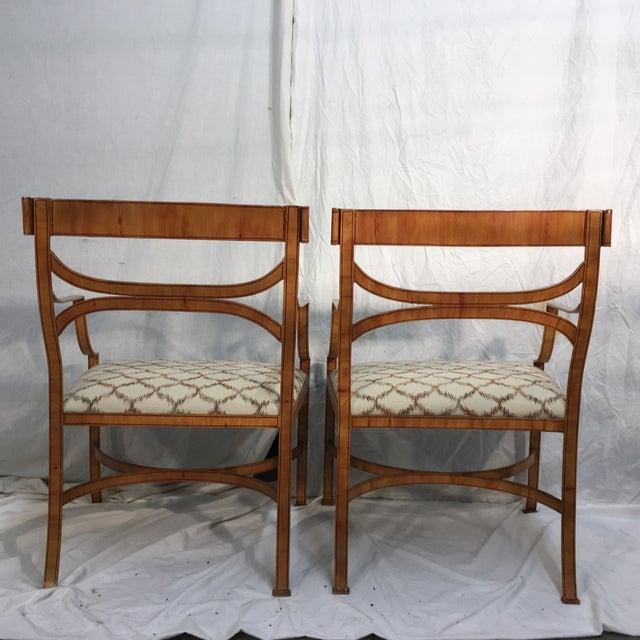 Maitland Smith Tole Armchairs - a Pair - Image 6 of 11