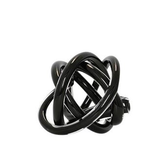 SkLO Large Wrap Object - Glass Knot - Black For Sale