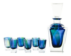 Image of Blue Carafes and Decanters