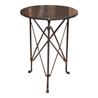 Modern Marble Round Side Table For Sale