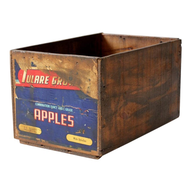 Vintage Wooden Apple Crate Box