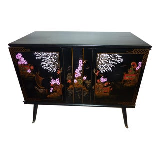 1950's Hi-Fi Chinoiserie Stereo Console