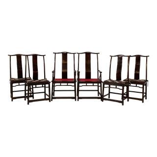 C. 1960s Guanmaoyi Yokeback Dining Chairs - Set of 6 For Sale
