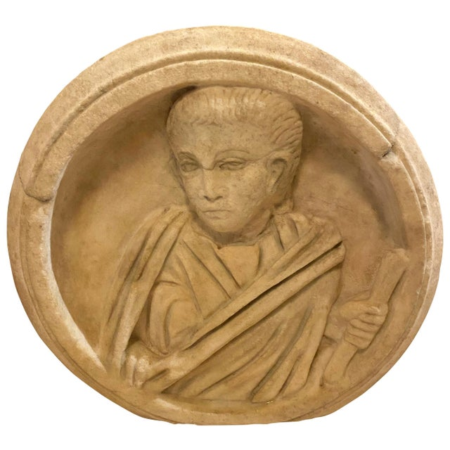 Ancient Roman Carved Marble Roundel For Sale - Image 11 of 11