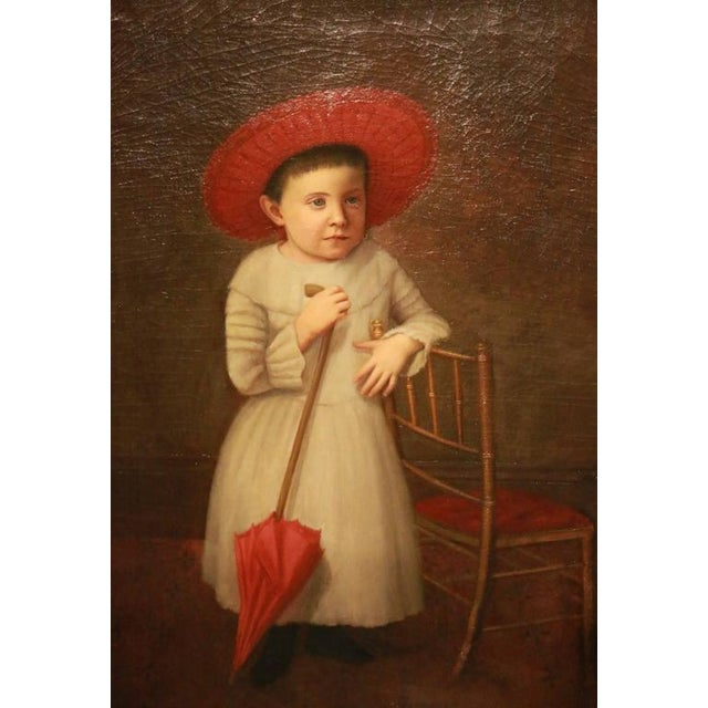 Early 19th Century American Folk Art Portrait from New England - Image 1 of 9