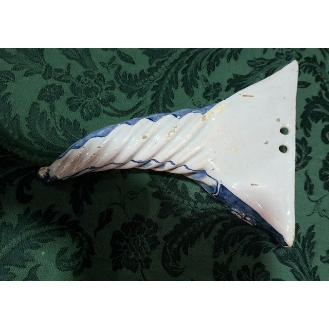 Blue & White Spiral Liverpool Delftware Wall Pockets, circa 1750. - Image 3 of 3