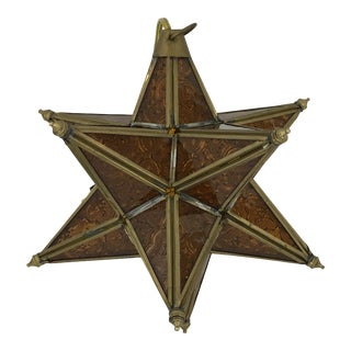 Moroccan Moravian Star Light For Sale