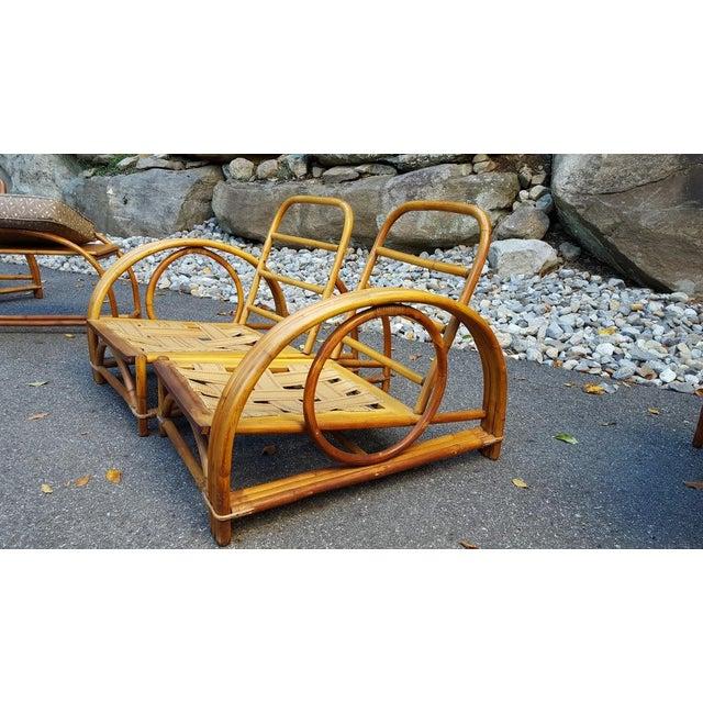 Vintage Paul Frankl Style Rattan Furniture - Set of 5 - Image 9 of 9