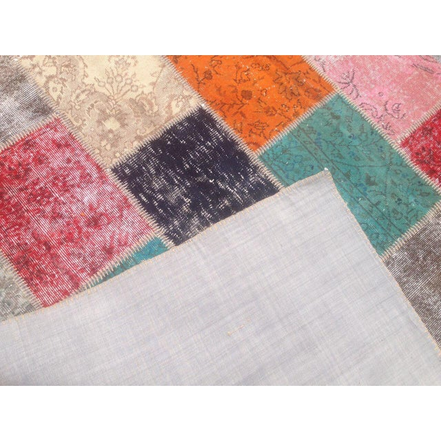 Contemporary Anatolian Turkish Patchwork Rug - 5′9″ × 8′ For Sale - Image 3 of 6