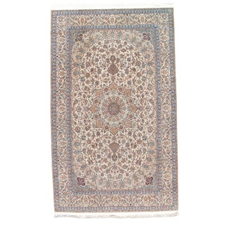 "Pasargad Persian Hand-Knotted Silk & Wool Pile Rug - 6'9"" X 11' For Sale"