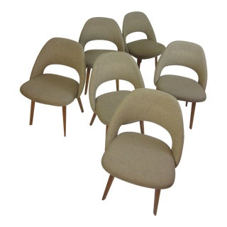 Saarinen for Knoll Wood Legged Dining Chairs (6)