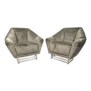 Italian Club Chairs by Romeo Reg - a Pair For Sale