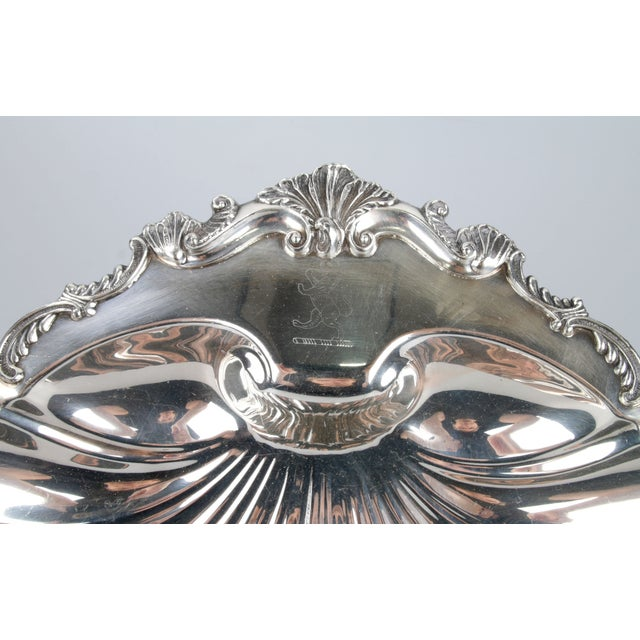 Signed Silver on Copper Clam Shell Bowl For Sale - Image 5 of 10