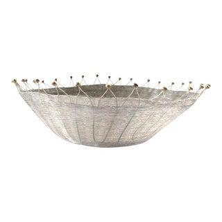 1980s Vintage Michael Aram Wire Bowl Basket For Sale