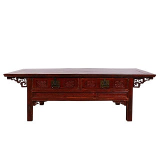 Chinese Antique Carved Zhejiang Coffee Table For Sale