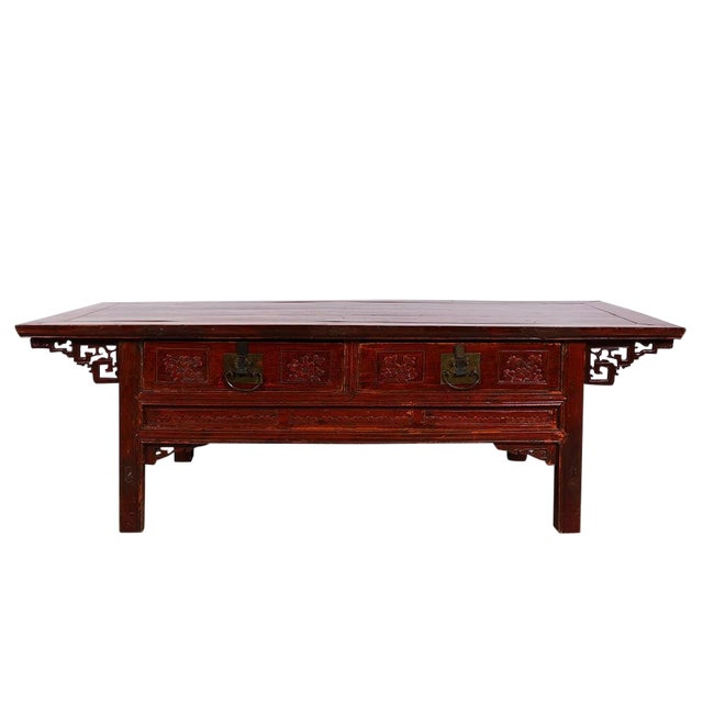 Chinese Antique Carved Zhejiang Coffee Table