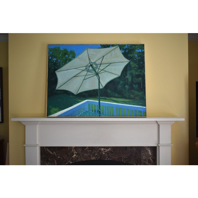 "Contemporary ""Summer on the Back Deck"" Contemporary Painting by Stephen Remick For Sale - Image 3 of 13"