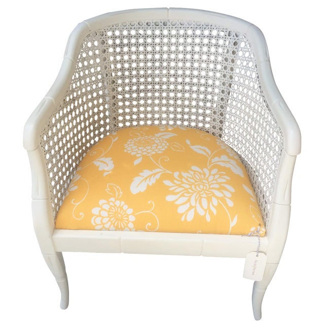 Vintage Cane Tub Chair - Image 1 of 5