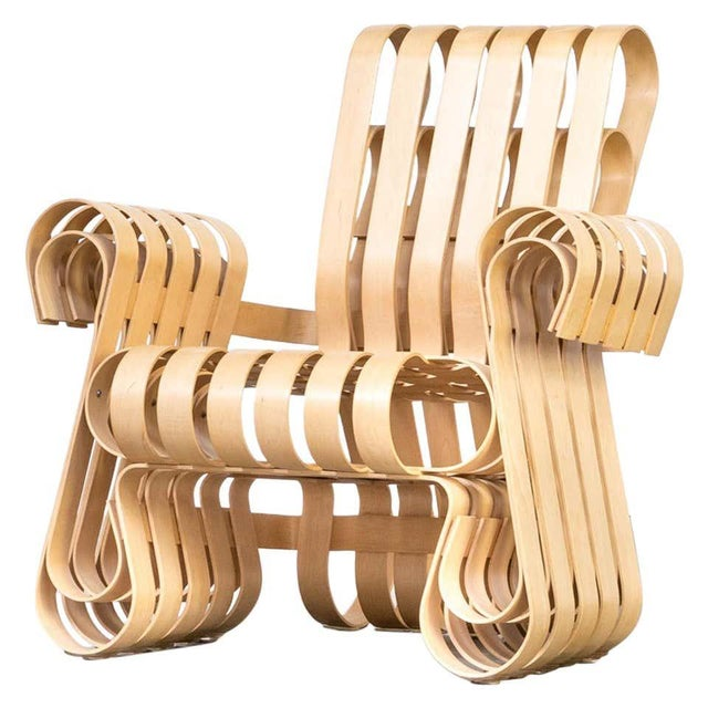 Tan 1990s Vintage Frank Gehry for Knoll International Power Play Chair For Sale - Image 8 of 8