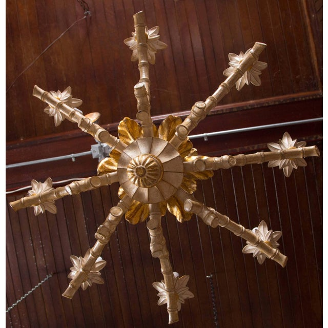 Wood Italian Carved Wood Pineapple Chandelier For Sale - Image 7 of 9