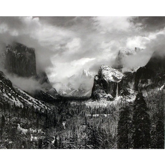 "Framed Ansel Adams ""Clearing Winter Storm"" Yosemite Valley ...Ansel Adams Clearing Winter Storm"