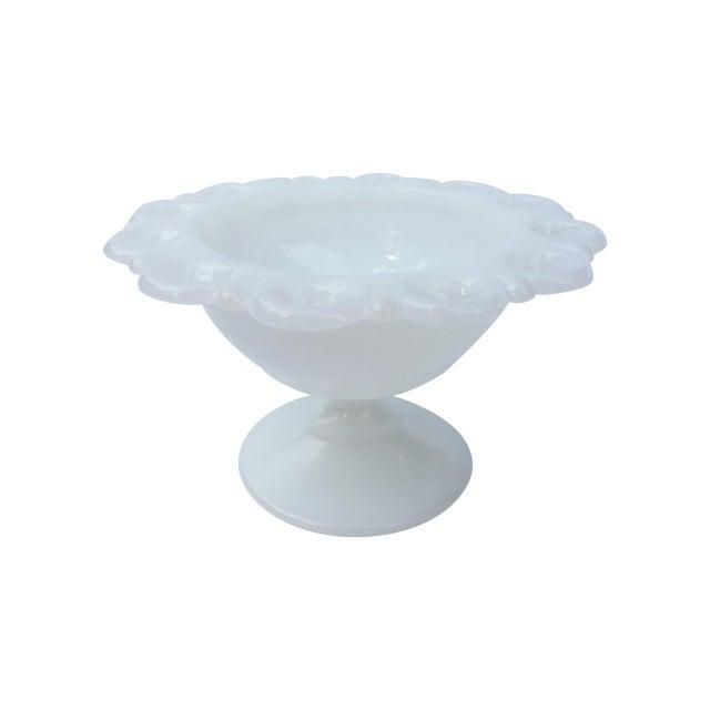 Vintage White Pedestal Dish - Image 1 of 3