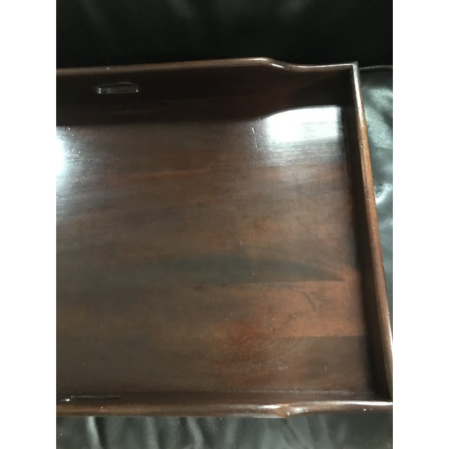 English Butlers Tray on Folding Stand, Perfect for Bar Setup For Sale - Image 11 of 12