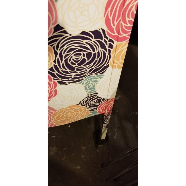 Boho Chic Peony Clad Drop Leaf Desk For Sale - Image 3 of 8