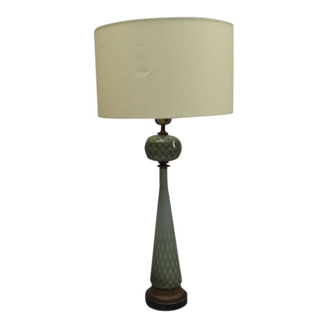 Pair of 1930s Large Modern Neoclassical Murano Glass Table Lamps For Sale