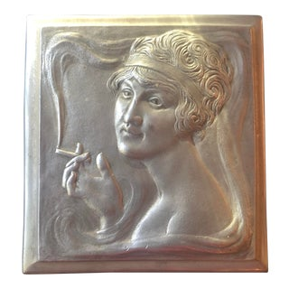 Antique Art Deco Cigarette Box With Swiss Musical Movement For Sale