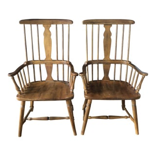 Vintage Windsor Arm Chairs- a Pair For Sale