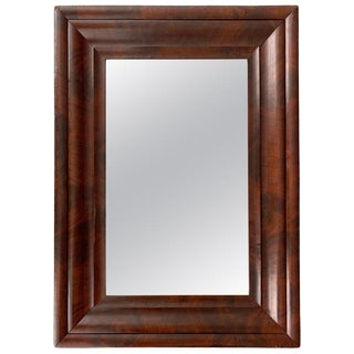 American Empire Mahogany Framed Mirror For Sale