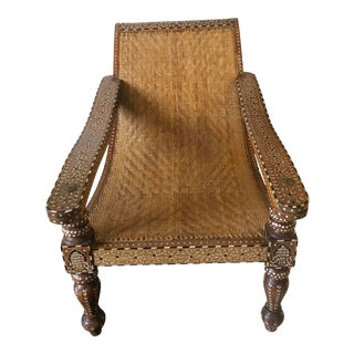Vintage Indonesian Bone Inlaid Chair For Sale