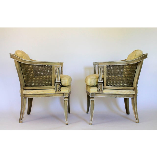 Caned Barrel Chairs - A Pair - Image 4 of 11