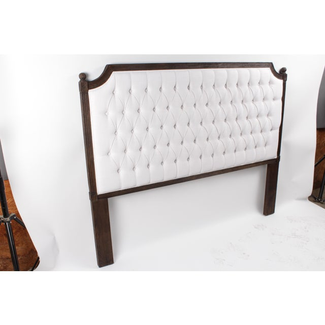 Louis XVI Blink Home Queen Pearl Headboard For Sale - Image 3 of 4