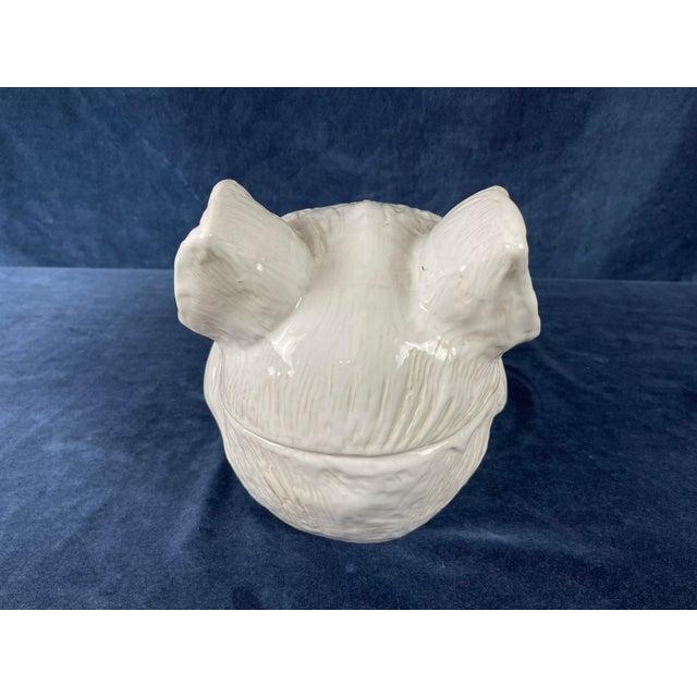 Late 20th Century White Ceramic Wild Boar's Head Tureen For Sale - Image 4 of 10