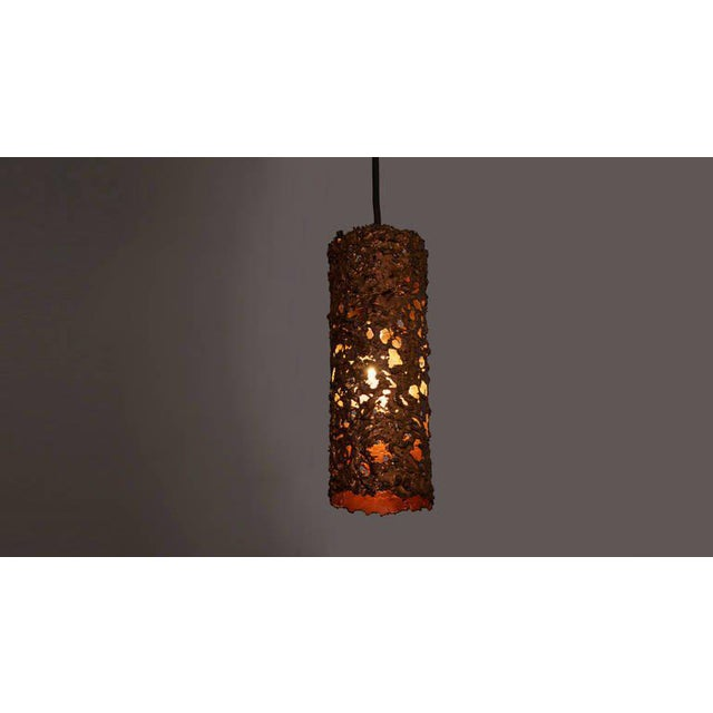 WorldClass Set Of Three Copper Brutalist Pendant Lamps DECASO - Set of three pendant lights