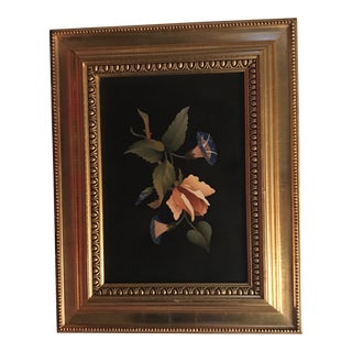 Italian Pietra Dura Gilt Framed Wall Plaque For Sale