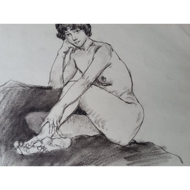Pencil Nude Sketches - Pair For Sale - Image 4 of 4